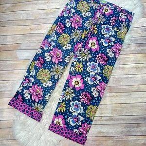 Vera Bradley | Leopard Floral Print Lounge Pants